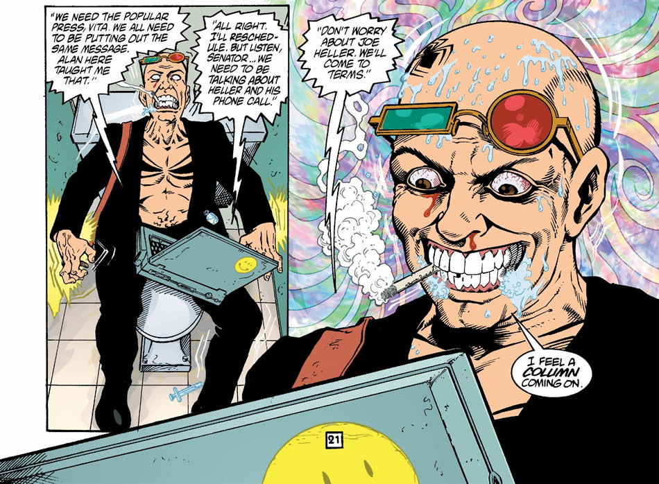 Spider Jerusalem and Hunter S. Thompson are both gonzo-journalists