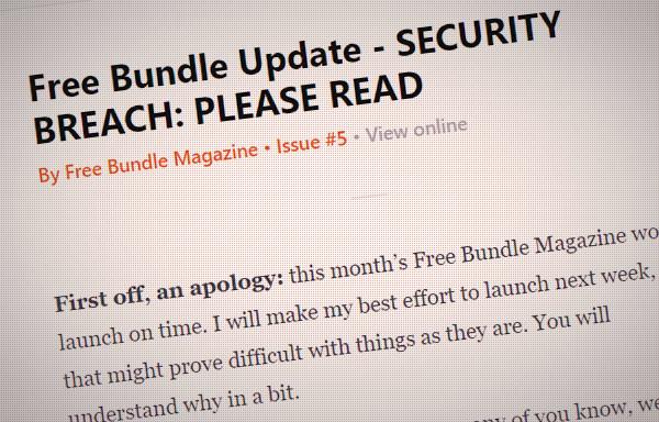 free bundle magazine newsletter screenshot